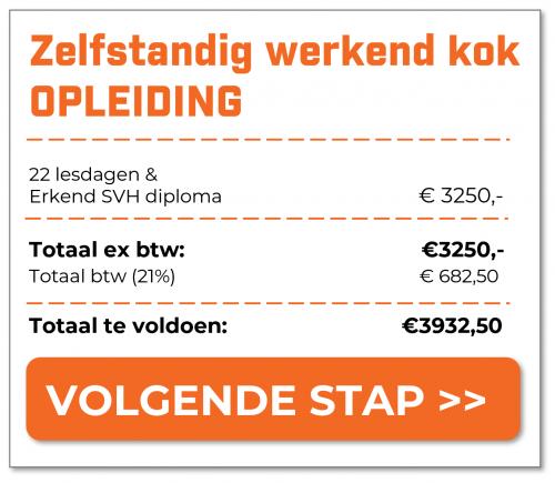 Proforma factuur - Zelfstandig werkend kok - 3250euro